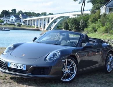 Porsche 911 Type 991 Carrera Cabriolet à La Trinité-sur-Mer (Morbihan)