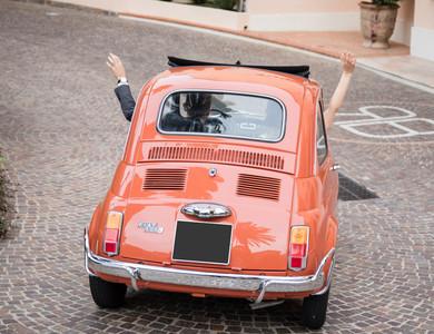 Fiat 500 à Nice (Alpes-Maritimes)