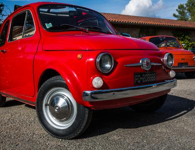 Fiat 500 F à Nice (Alpes-Maritimes)