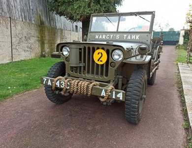 Jeep Willys à Gaillon (Eure)