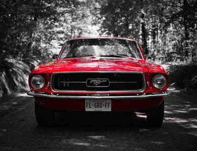Ford Mustang à Piré-Chancé (Ille-et-Vilaine)