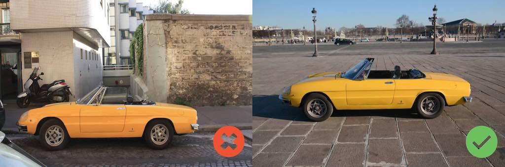 Alfa Spider jaune profil