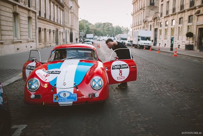 Porsche 356 A rouge