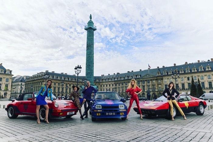 Porsche 930 Turbo 3.3 / Renault R5 Turbo / Ferrari 512 BBi place Vendôme à Paris