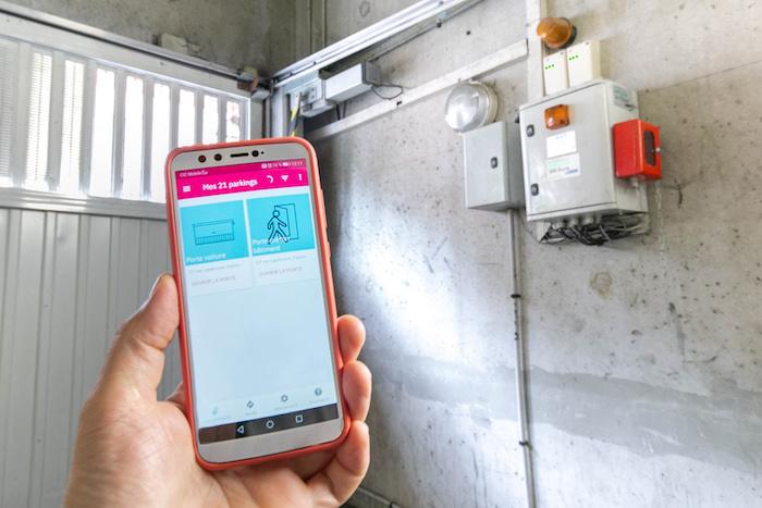 Application Yespark sur smartphone
