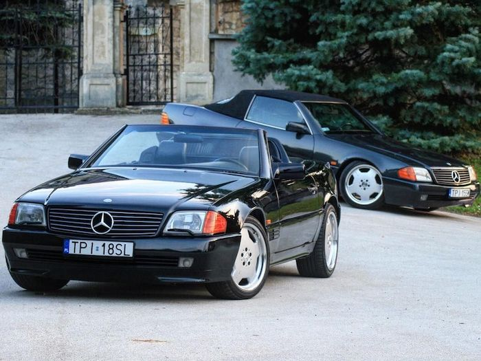 Mercedes-Benz SL R129 noires