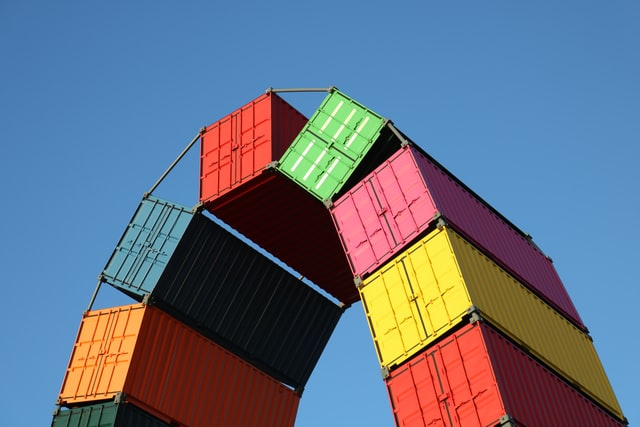 Installation artistique containers Le Havre