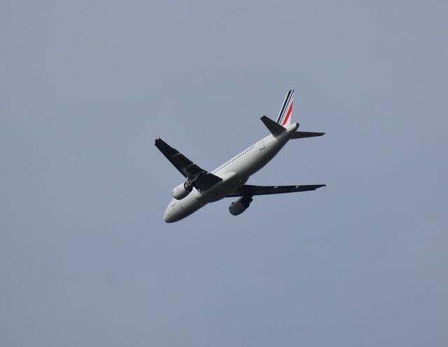 Avion Air France à l'atterrissage